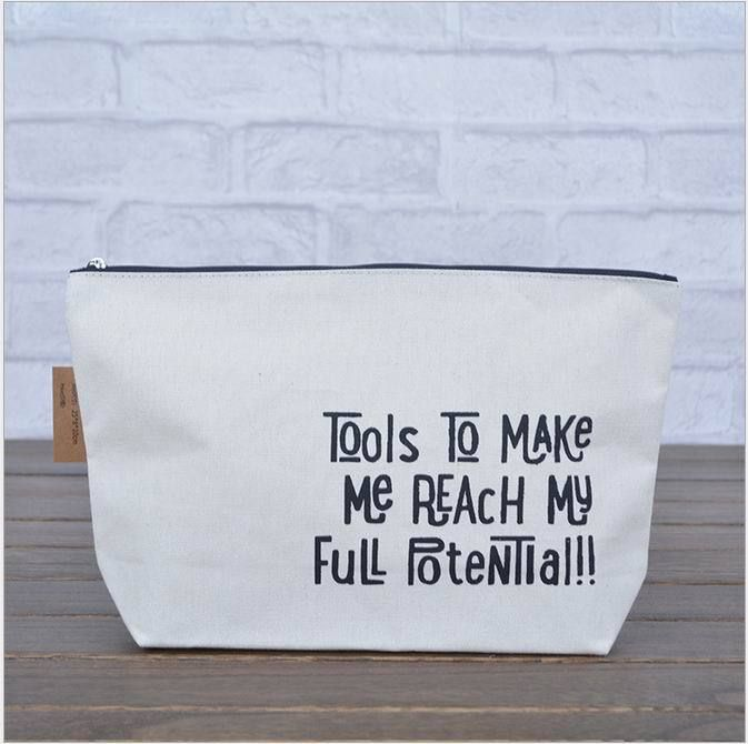2016 newest Popular  Canvas fabric storage bag ,coin purse  bag ,cosmetic  bag with zipper