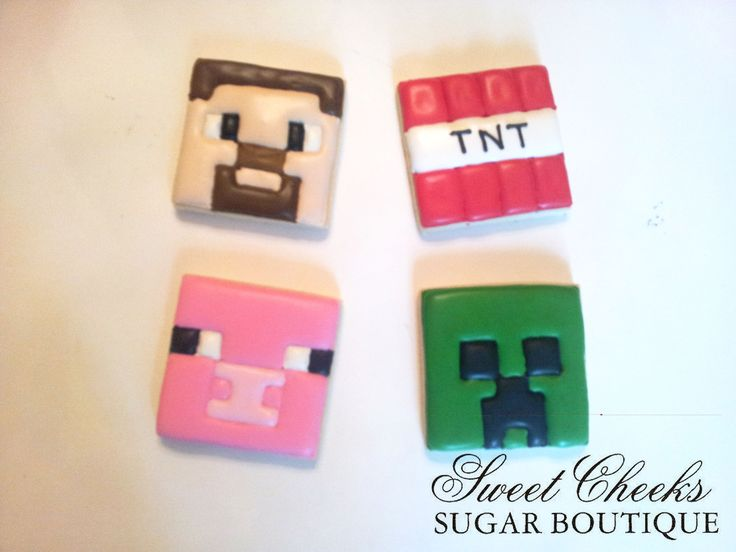 Minecraft themed cookies | Sweet Cheeks Cookies ...