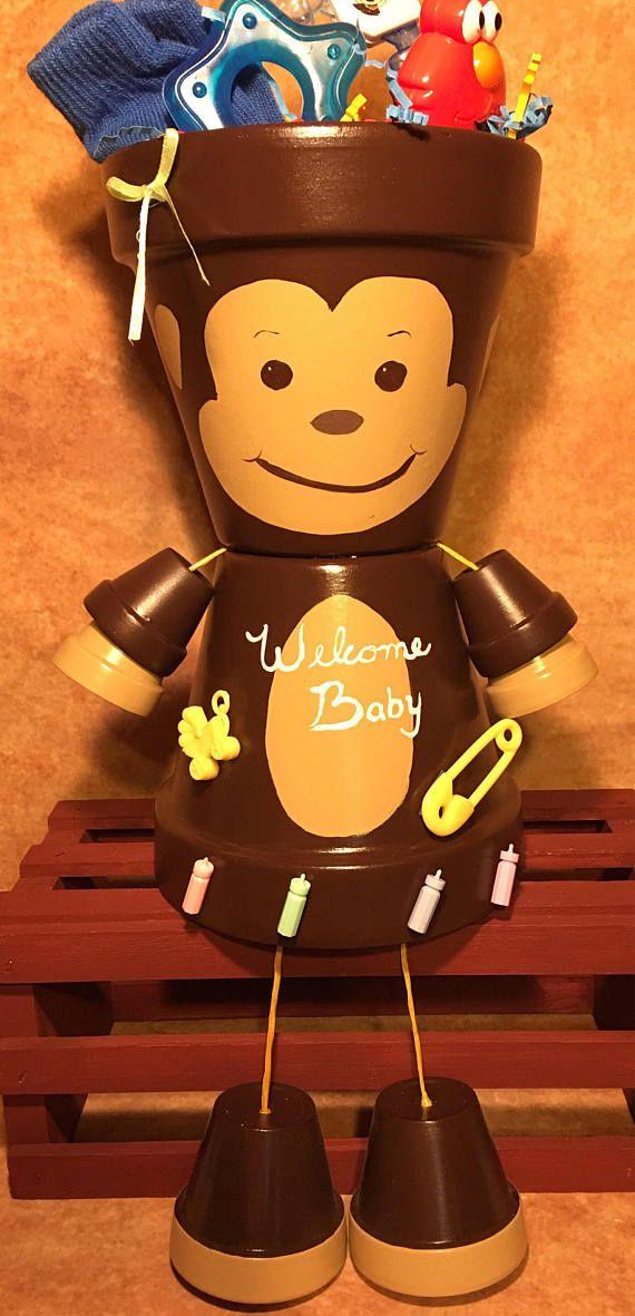 Monkey Baby Shower Monkey Centerpiece Monkey Baby Shower