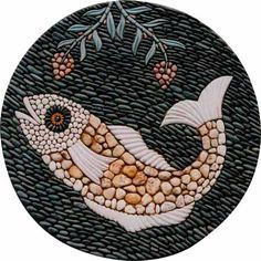 pebble mosaic I can see this as stepping stones in a white gravel path...More Pins Like This At FOSTERGINGER @ Pinterest