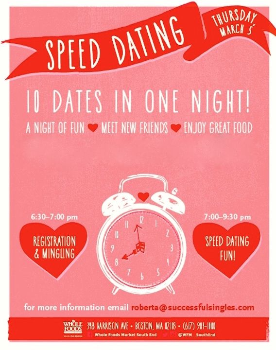 SpeedDating at Whole Foods Market South End Tickets, Boston | Eventbrite