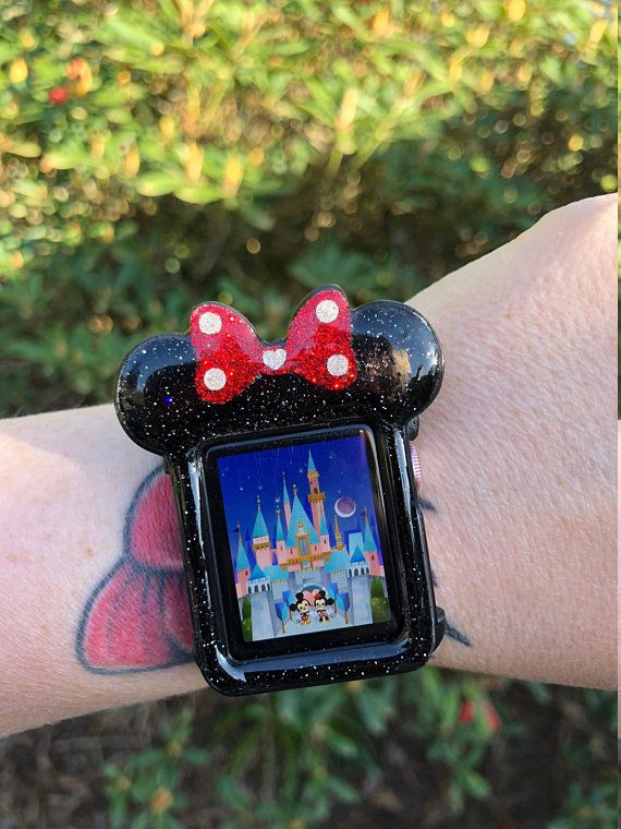 on sale 626ae 7f326 Minnie Snap On 3D printed Apple Watch Case cover Faceplate   Disney ...