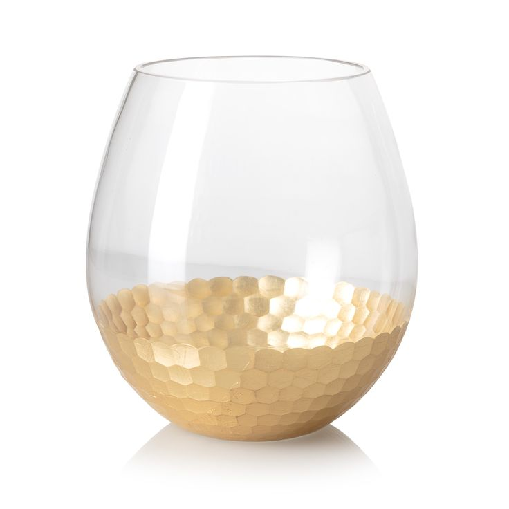 Buy the Large Gold Honeycomb Round Vase at Oliver Bonas. Enjoy free UK standard delivery for orders over £50.