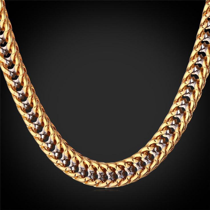 Necklaces c Hiphop Gold ns 22'' Platinum 18K Gold Plated T_Tone ns Chuny lace Hip Hop N1553