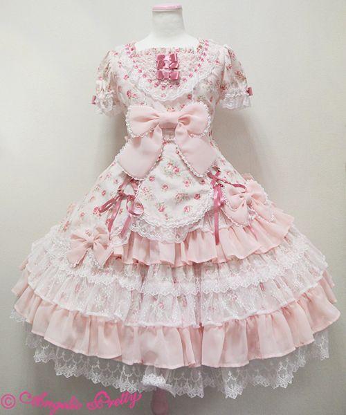ファンシーローズワンピース pink sweet lolita angelic pretty