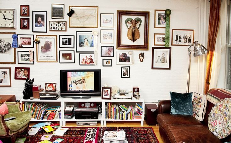 Inspiration for those of us terrified to hang photos/art.