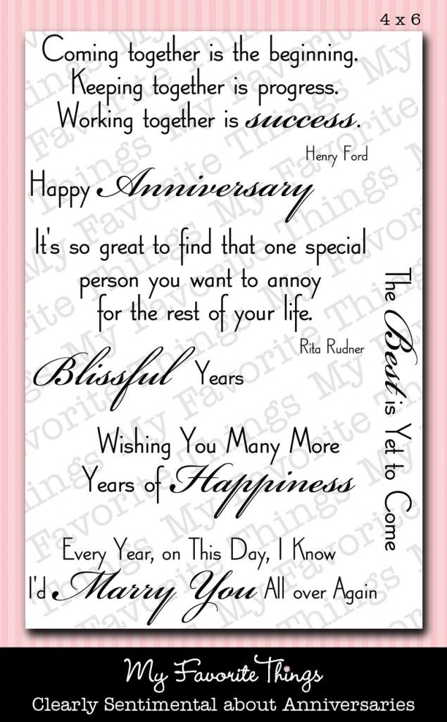 Anniversary sayings :)