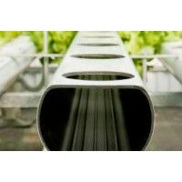 NFT Pipe (2 meters) - growth stage - 75mm  NFT - Hydroponics - growth stage. The material used, PVC plastic, is a material free from heavy metals which confers characteristics compatible with food use.