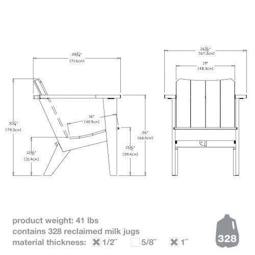 deck board dimensions 5 4 | Deck chairs, Modern deck, Deck ...