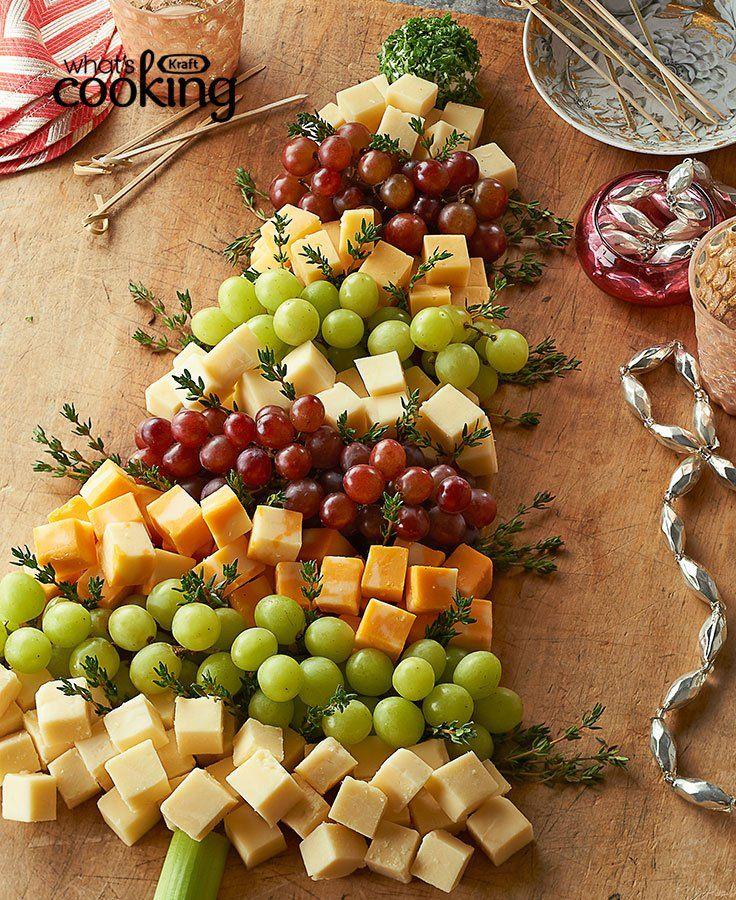 Christmas Tree Cheese Board #recipe