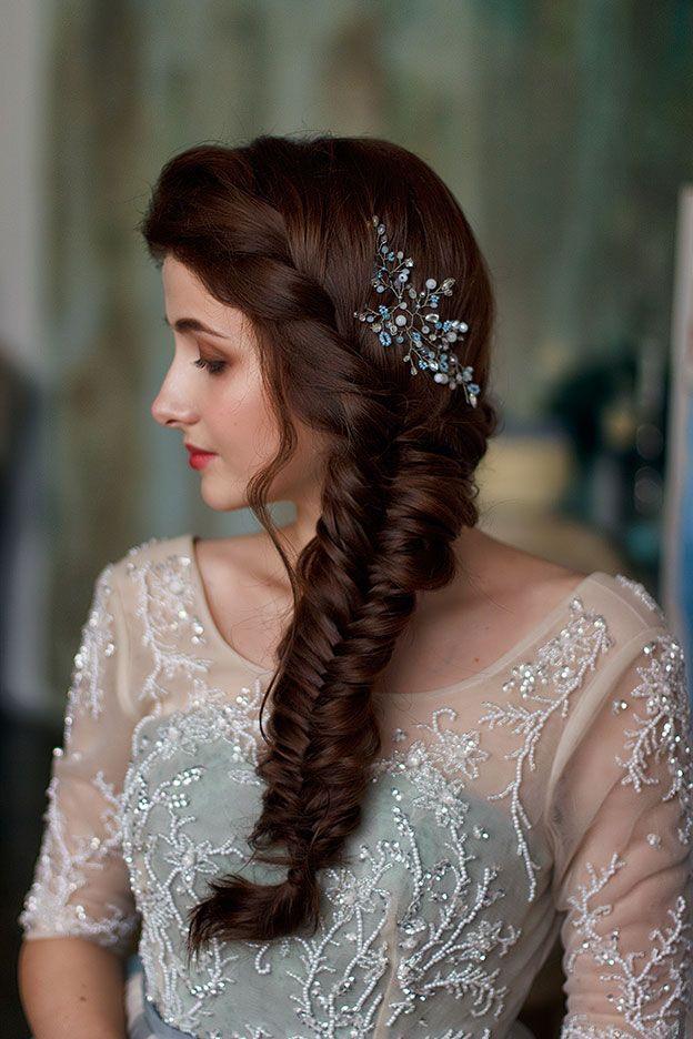 2016 свадебный образ и коса Рыбий хвост wedding bride make-up and hair fish tail Дарья Черентаева