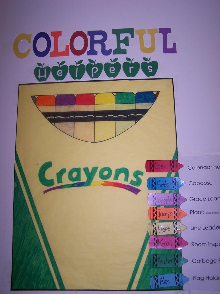 Classroom Helpers Ideas For Preschoolers ~ Best ideas about classroom helper chart on pinterest