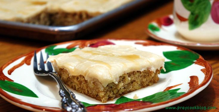 Apple Sheet Cake With Caramel Frosting   My Daily Bread Body and Soul
