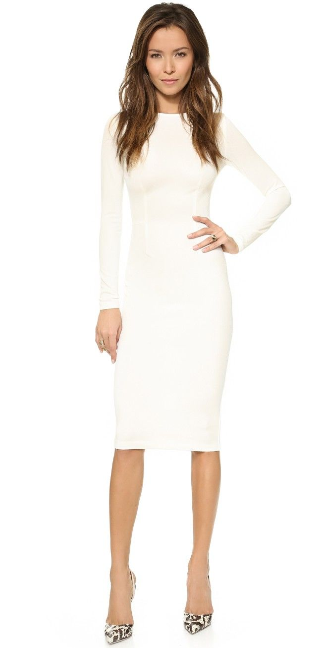 1000  ideas about White Long Sleeve Dress on Pinterest  Classy ...
