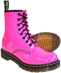 Hot pink Doc Marten boots!  Oh my freaking crap, I want these!  They remind me of my fleeting youth, when I wanted Doc Martens and never got them...le sigh ;)