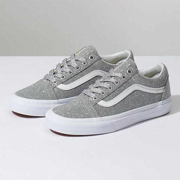 31e092c52d In silver glitter! Size 8 -women s (men s 6.5) Lurex Glitter Old Skool