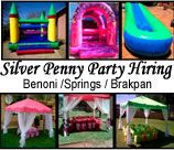 Silver Penny's Party Hiring - East Rand, offers a full party planning service from Chairs Gazebos; cakes & party packs; bubble machine; balloons to playtents and more.