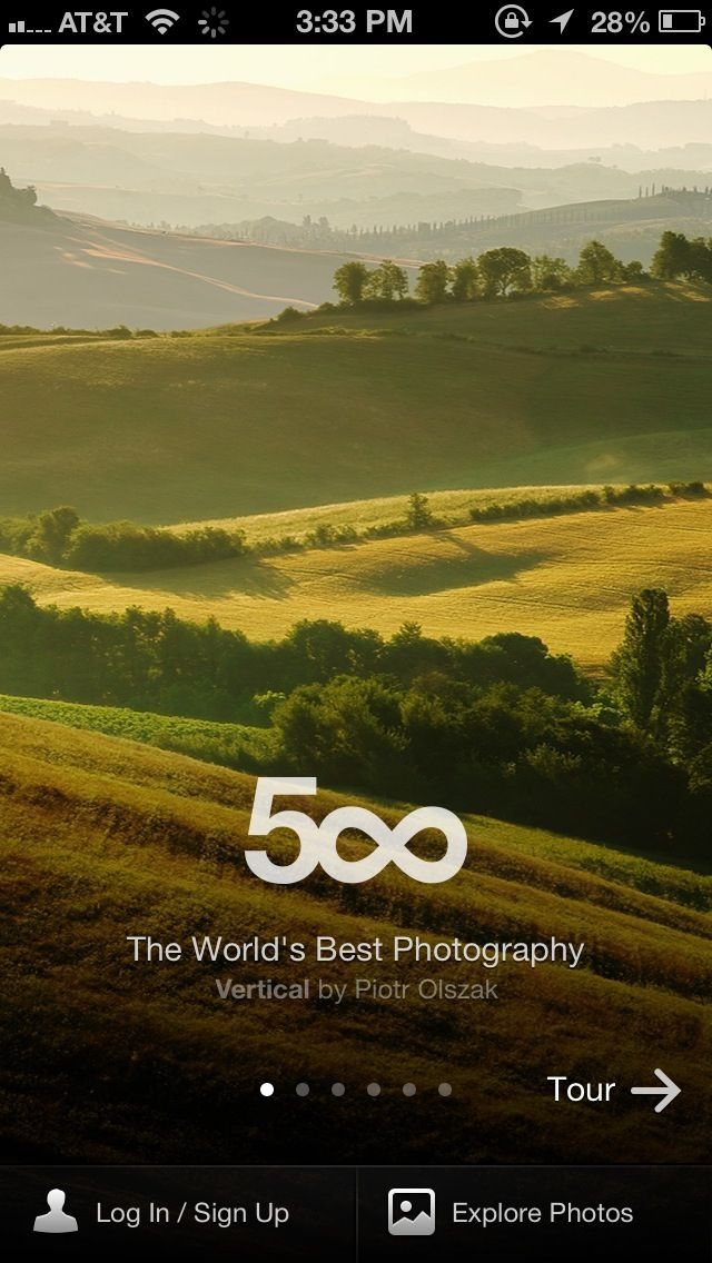 500px first open welcome screen.
