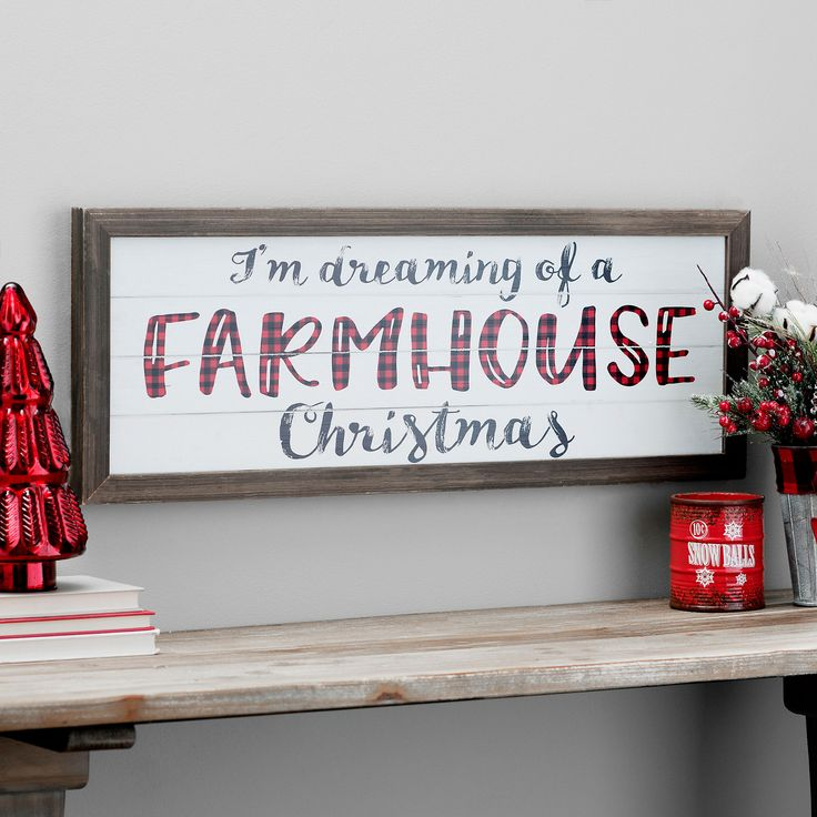 Farmhouse Christmas Framed Wall Plaque | Kirklands