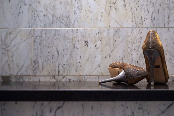 marble and sparkle #showerseat #glitteryheels