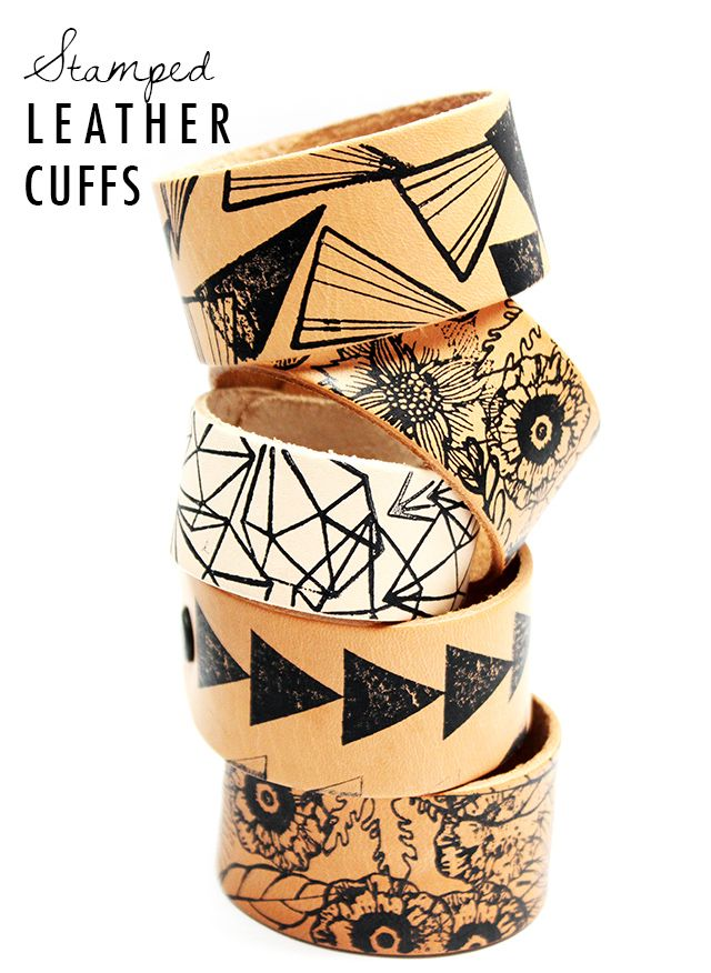 Stamped leather cuffs. Gloucestershire Resource Centre http://www.grcltd.org/home-resource-centre/
