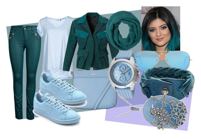 blue/green and purple by slytheriner on Polyvore featuring ONLY, Burberry, adidas, DKNY, HTC, Genevieve & Grace, a_line, prAna and Ray-Ban