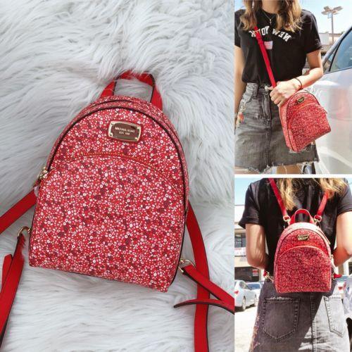 1b4a7ac901b NWT Michael Kors Abbey XS Mini Backpack Sangria Pebbled Leather MK ...