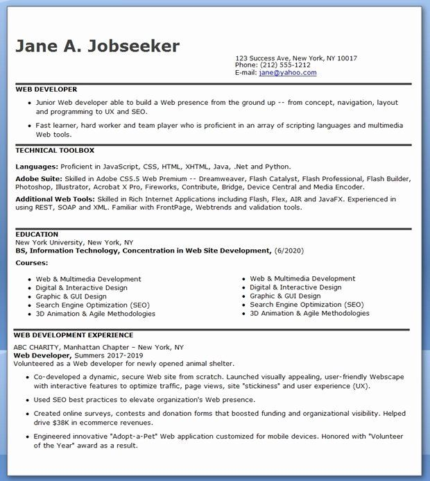 Entry Level Web Developer Resume Beautiful Sample Resume Entry Level Help Desk Dental Vantage Web Developer Resume Engineering Resume Resume Design Creative