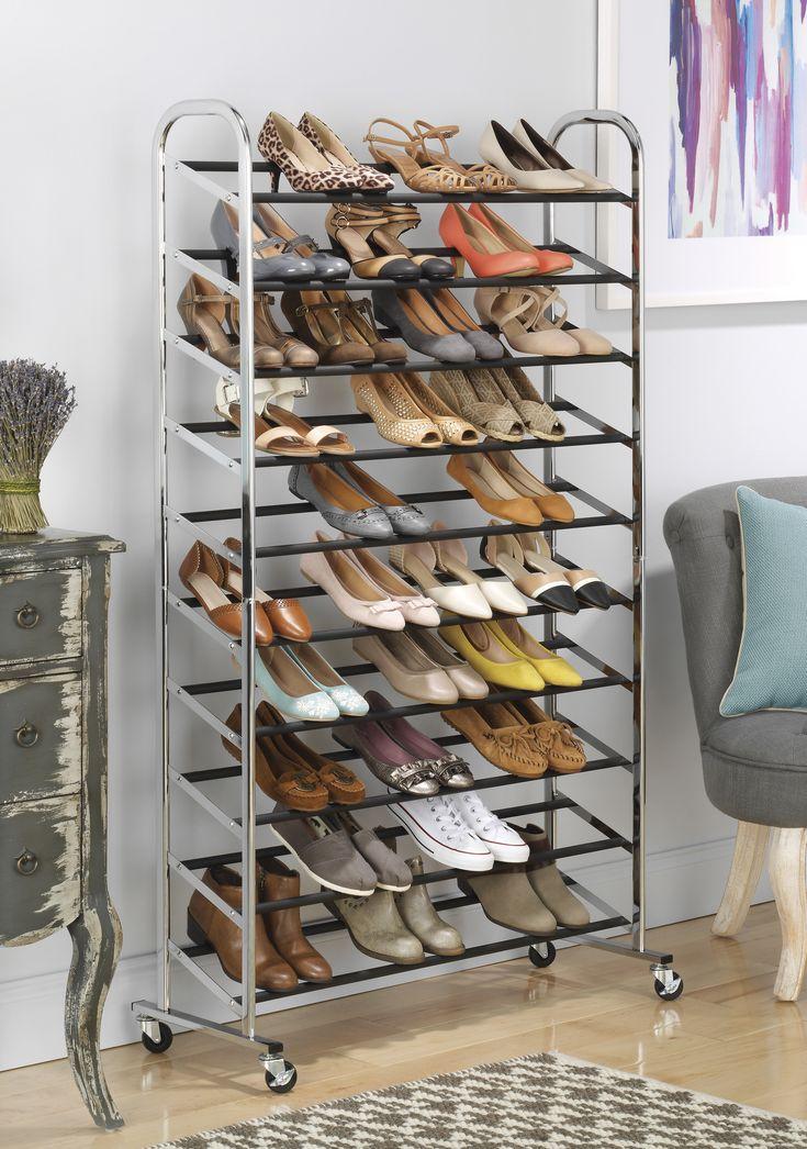 Whitmor Shoes Shoe Storage Space Savers Closets Closet Ideas Closet Storage Closet Design