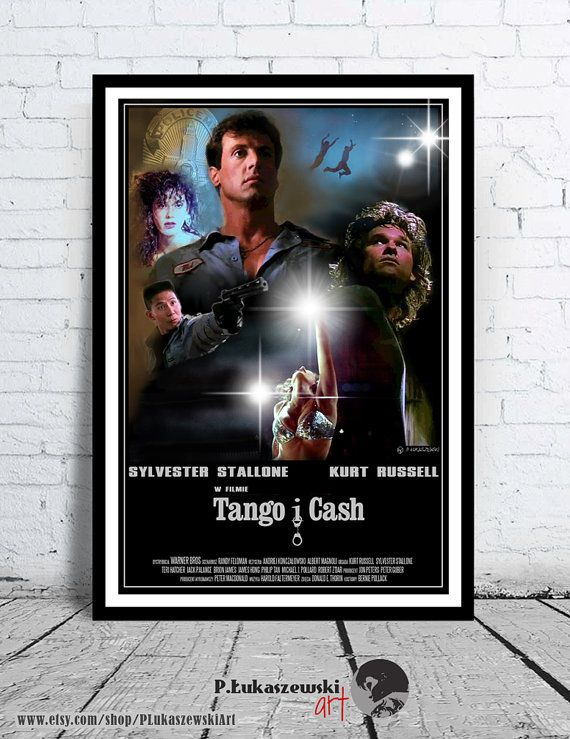 TANGO & CASH - cult / classic alternative movie poster / print [ Sylvester Stallone Kurt Russell Teri Hatcher Jack Palance Brion James ] and