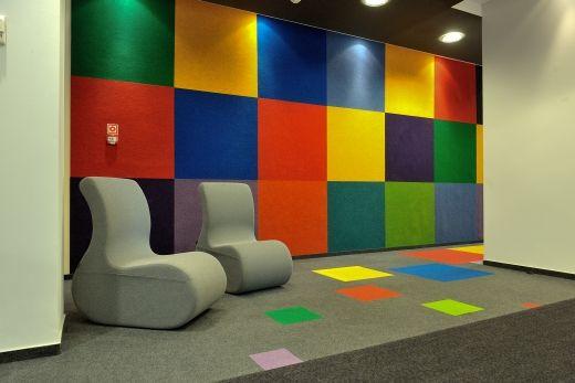 felt tiles on the wall -  #heckmondwikefb carpets in Warsaw