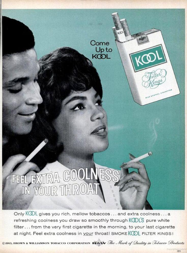 Kool cigarettes (1963) from the Sept. '63 issue of Ebony magazine