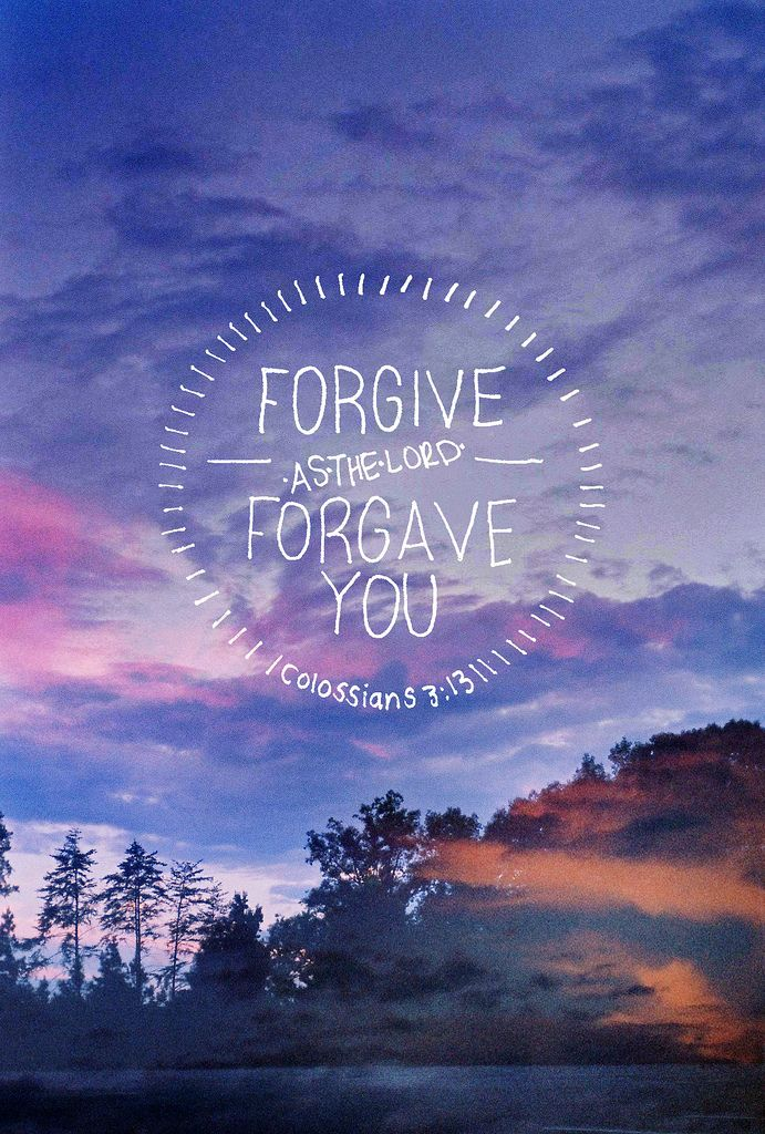"Before the cross, the bible says ""forgive so that you will be forgiven""...after the cross it's ""forgive AS your Heavenly Father has forgiven you"" We are now free to forgive, not as a threat, it's all about Love!"