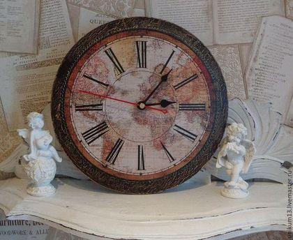 """Часы для дома ручной работы. Ярмарка Мастеров - ручная работа часы ручной работы """"мужские кабинетные"""". Handmade."""