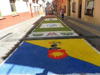 Las alfombras volverán a brillar en la Solana en el día del Corpus