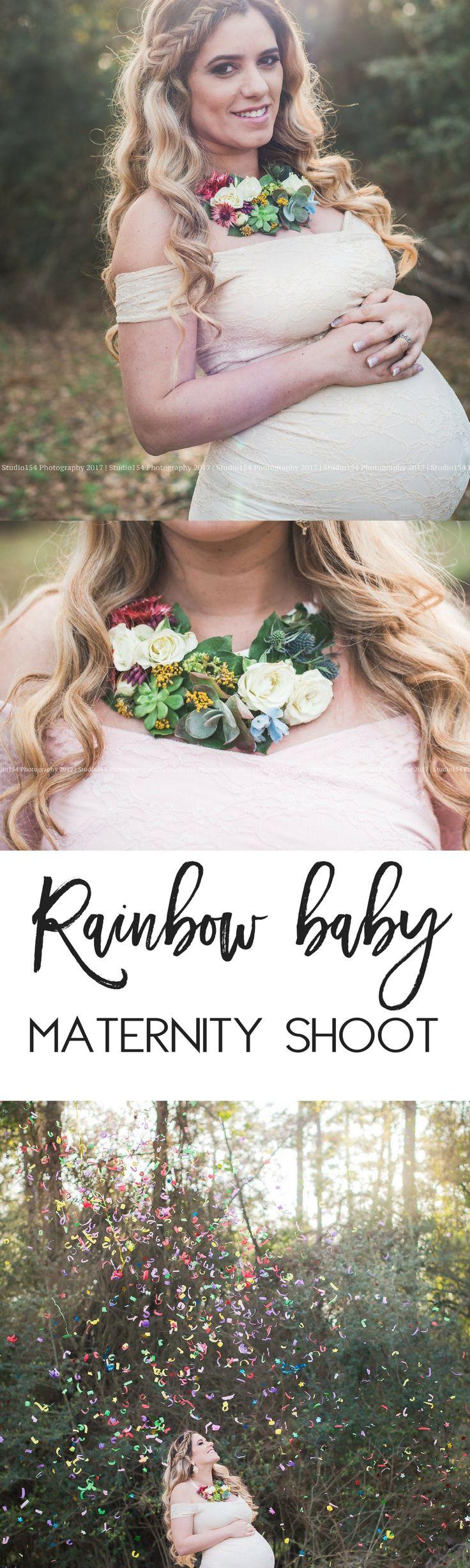 Rainbow baby maternity shoot