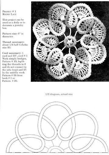 Romanian Point Lace crochet design