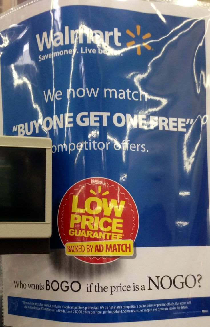 Ad Match Publix BOGO's At Walmart with the New Grocery Savings App. Here's my quick tip.