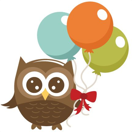 Owl Holding Balloons SVG file for cutting machines owl svg file for scrapbooking crafts free svg cuts