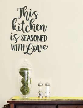 This Kitchen is Seasoned With Love Decal   Kirklands ...