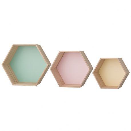 Półki kolorowe, komplet 3 sztuki