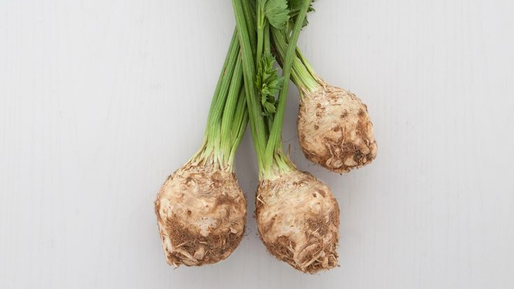 In Season: Celery root, also called celeriac, is harvested in the late fall. This ugly duckling has a distinct, refreshing flavor reminiscent of a cross between celery and parsley. The green stalks that sprout from the root aren't for snacking -- they're more pungent and not as crisp as regular celery -- but are wonderful simmered in soup or stock. Celery root stores well at cool temperatures, so it's available throughout the winter. Some markets carry it year-round. ...