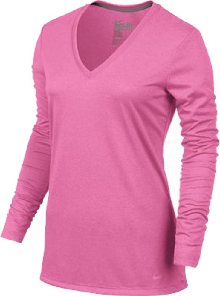 543244-682 New with tag Nike Women's LEGEND LONG SLEEVE RUNNING shirt PINK