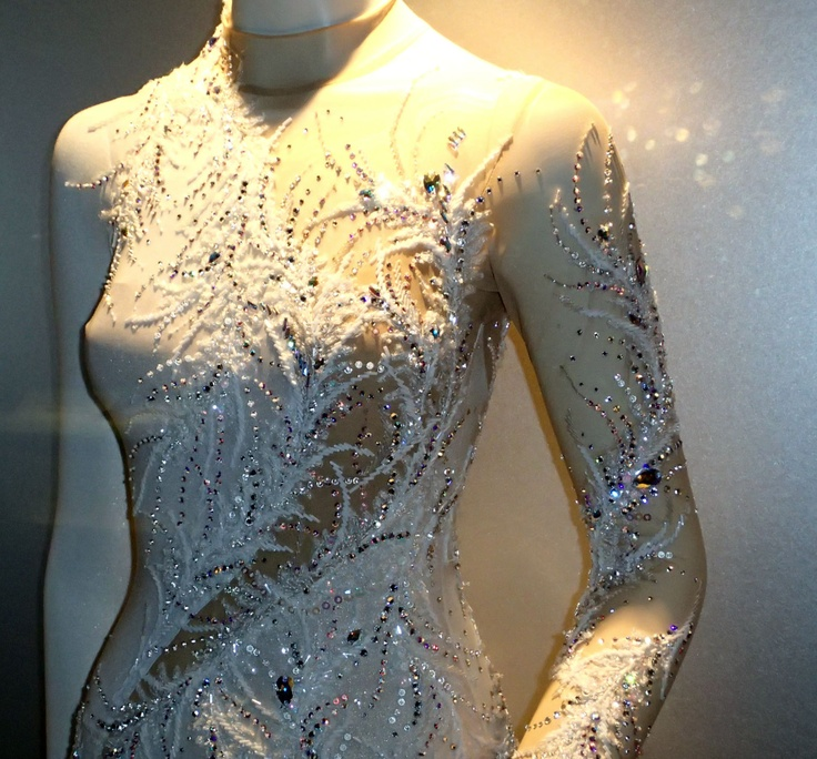 Miki Ando's costume(a thousand winds) White Figure Skating / Ice Skating dress inspiration for Sk8 Gr8 Designs