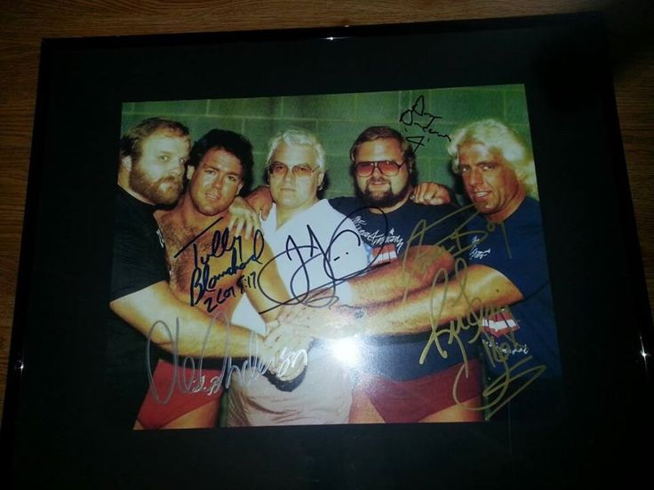 Wrestling 2902: Autographed 16X20 Ric Flair Ole And Arn Anderson, Tully Blanchard Jj 4 Horseman -> BUY IT NOW ONLY: $125 on eBay!