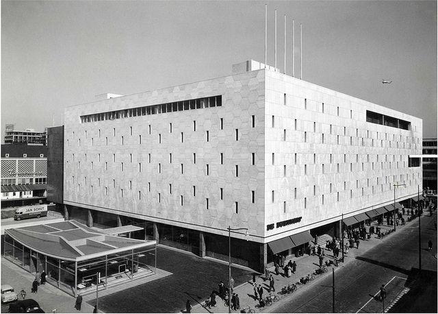 Bijenkorf department store, Rotterdam, the Netherlands by Marcel Breuer (1957)