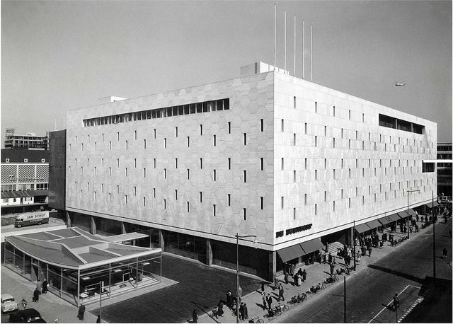 Bijenkorf department store, Rotterdam, the Netherlands by Marcel Breuer (1957)