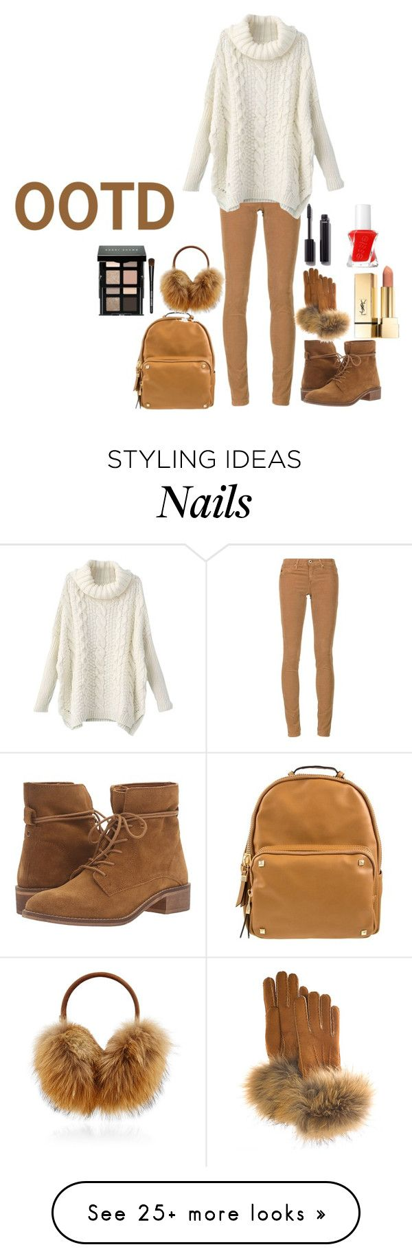 """""""OOTD"""" by ausra-veronika on Polyvore featuring AG Adriano Goldschmied, Steve Madden, Bogner, FRR, Bobbi Brown Cosmetics, Chanel and Essie"""
