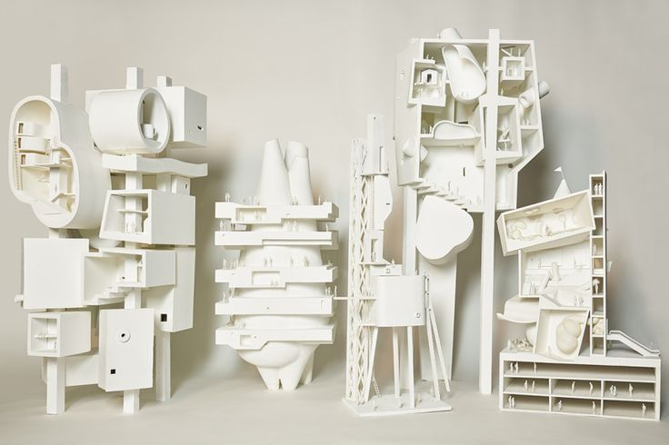 Bureau Spectacular installs a series of conceptual tower models at SFMOMA that expand upon a 2014 drawing by the studio's founder, Jimenez Lai.