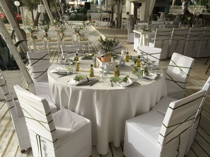 Styled by island events.gr Olive themed table setting